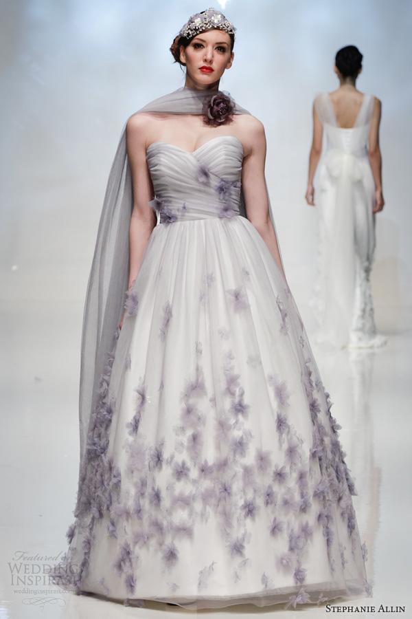 Wedding Dresses Color Purple : Stephanie allin wedding dresses inspirasi page