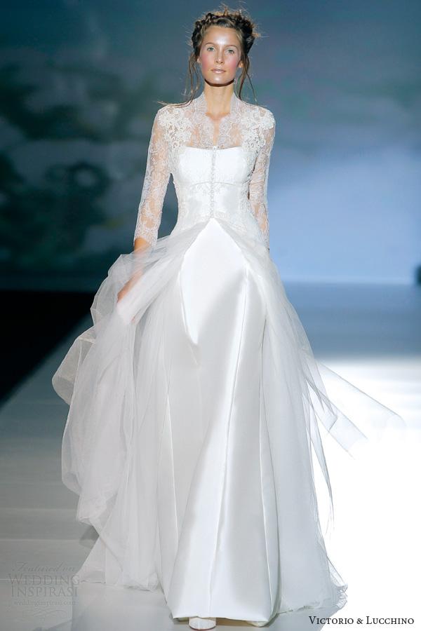 victorio y lucchino 2014 bridal brujas long sleeve wedding dress