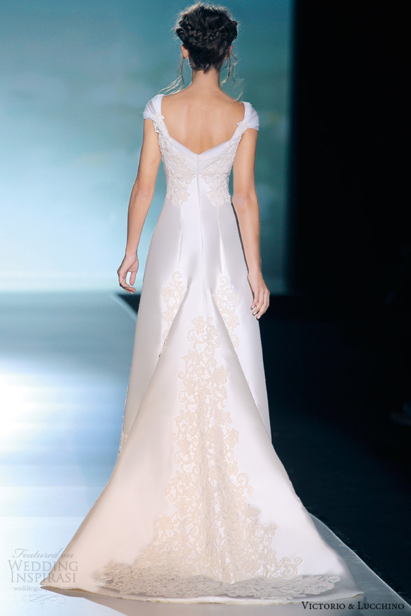 Wedding Dress For   Dublin : Lucchino wedding dresses bridal dublin cap sleeve gown train