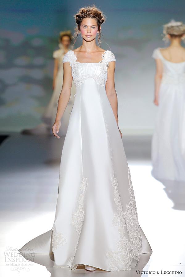 Victorio Y Lucchino Wedding Dresses 2014 Bridal Dublin Cap Sleeve Gown