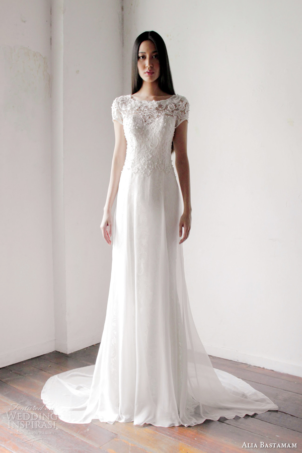wedding dresses with short sleeves alia bastamam 2013 wedding dresses wedding inspirasi 9435