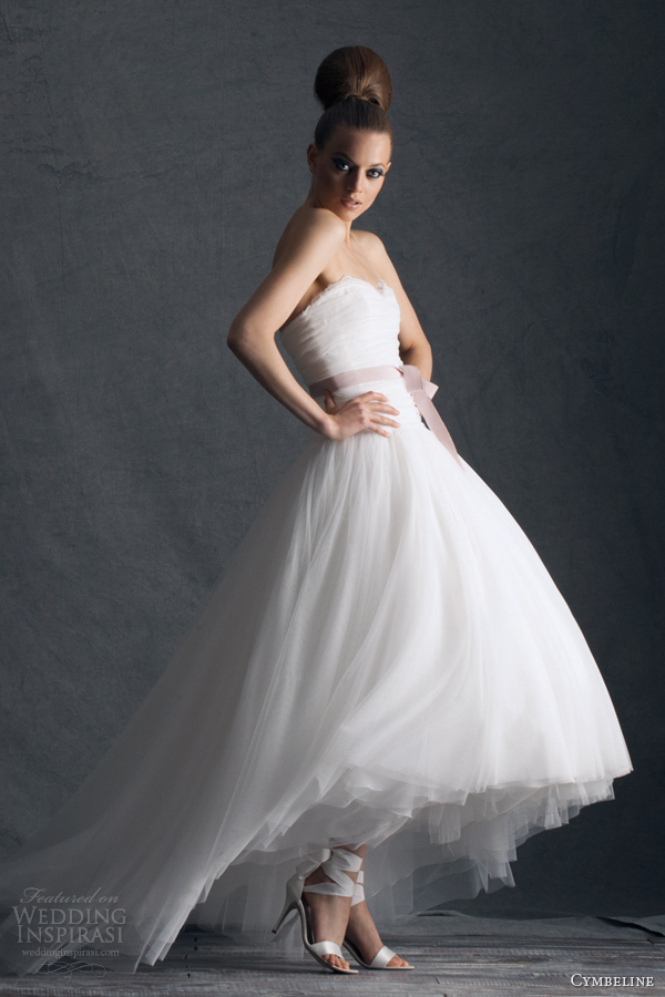cymbeline 2014 paris houps wedding dress high low