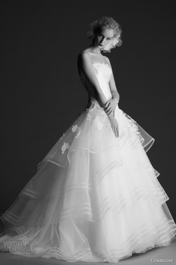 cymbeline wedding dresses 2014 hope strapless ball gown horsehair skirt tiers