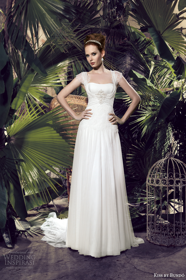 kiss by bundo 2014 kary cap sleeve wedding dress