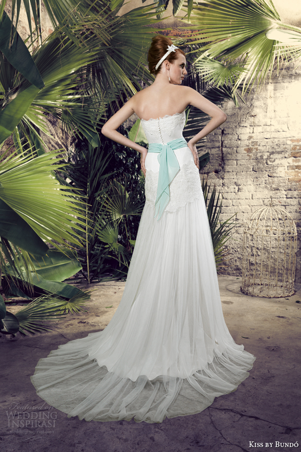 kiss by raimon bundo 2014 kabila strapless wedding dress back train