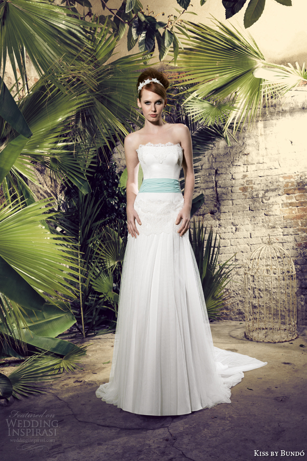 kiss by raimon bundo 2014 kabila strapless wedding dress