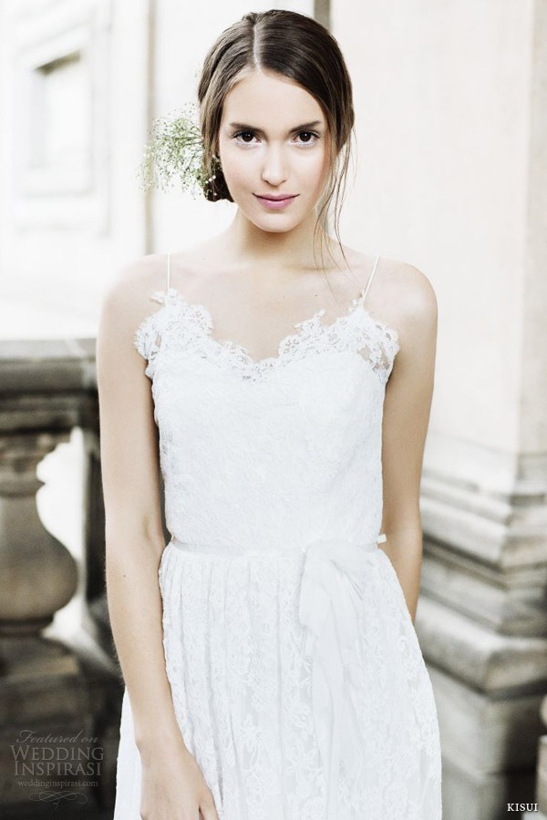 kisui bridal 2014 elouise lace wedding dress straps