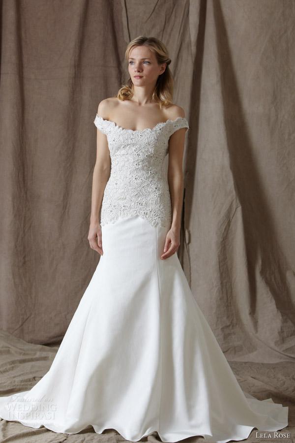 Off Shoulder Wedding Gowns 27 Cool lela rose bridal the