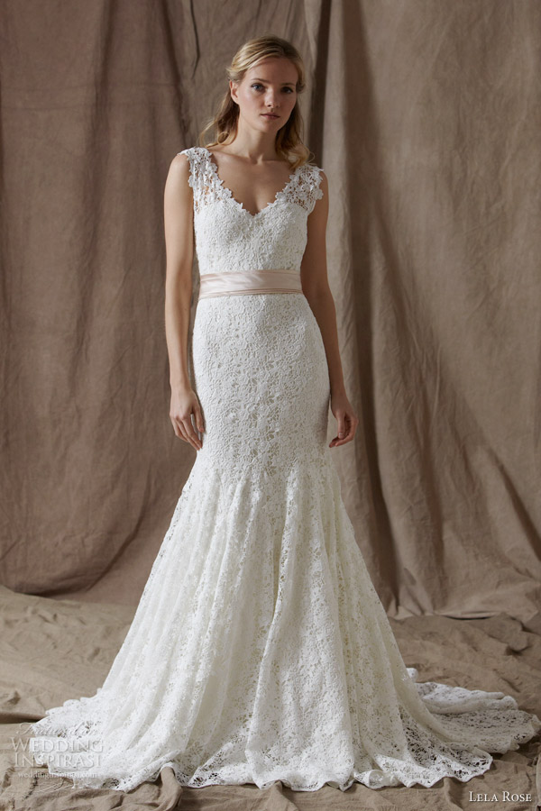 Lela rose spring 2014 wedding dresses wedding inspirasi for Rose pink wedding dress
