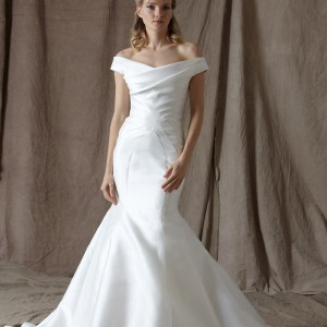 lela rose spring 2014 bridal the coast off shoulder wedding dress