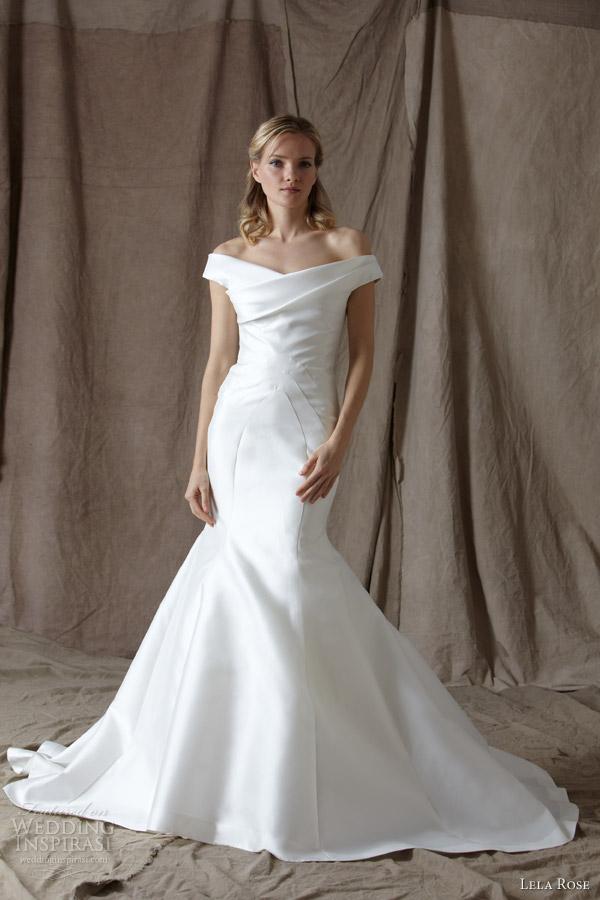 lela rose spring 2014 bridal the coast off shoulder wedding dress