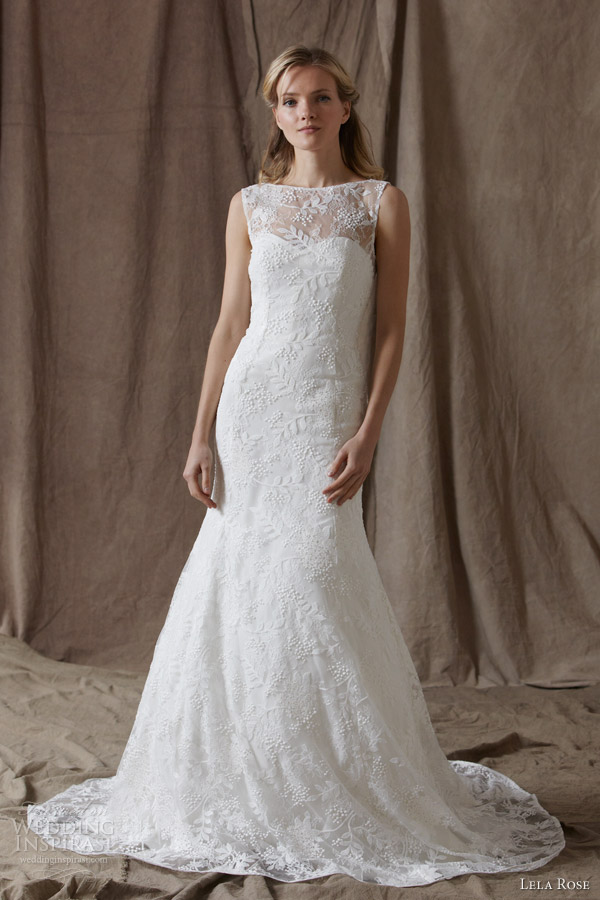 Lela rose spring 2014 wedding dresses wedding inspirasi for Spring lace wedding dress