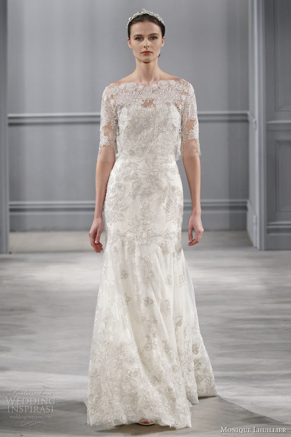 Monique Lhuillier Spring 2014 Wedding Dresses Wedding Inspirasi