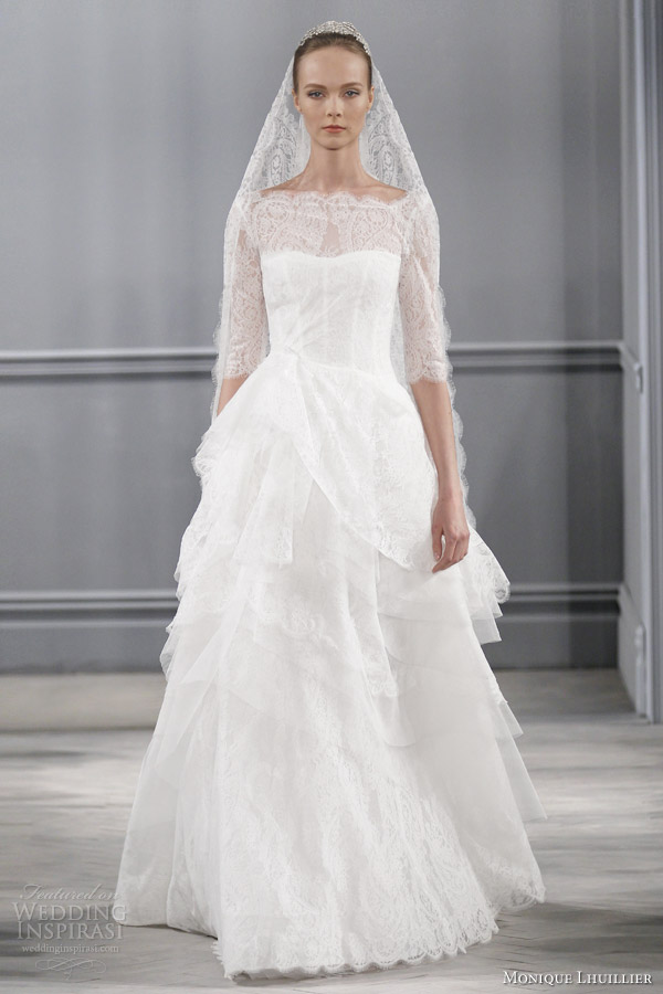 Monique lhuillier spring 2014 wedding dresses wedding for Monique lhuillier wedding dress