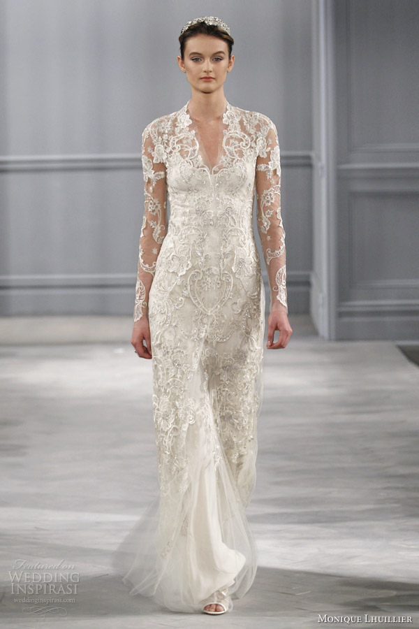Monique Lhuillier Spring 2014 Wedding Dresses | Wedding Inspirasi ...