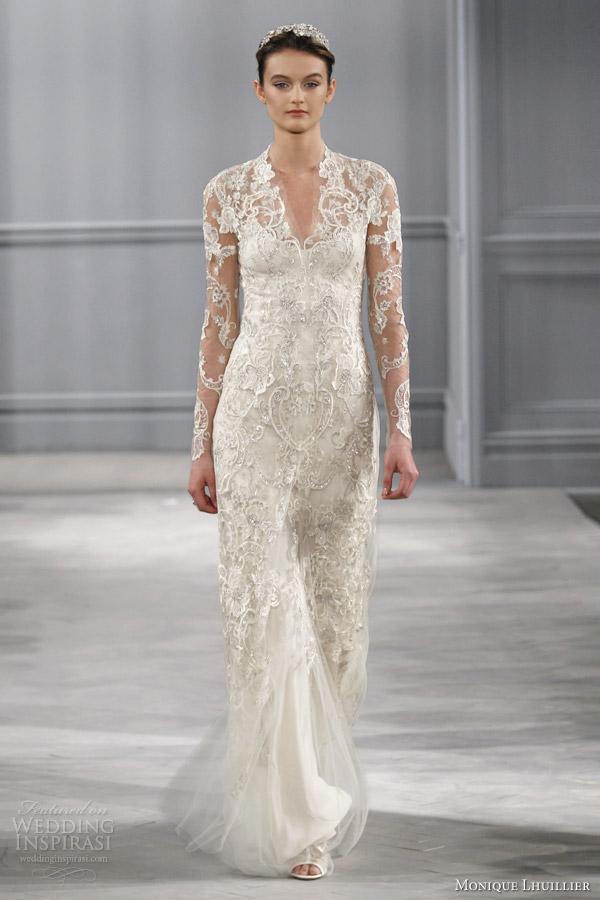 Monique Lhuillier Spring 2014 Wedding Dresses | Wedding Inspirasi