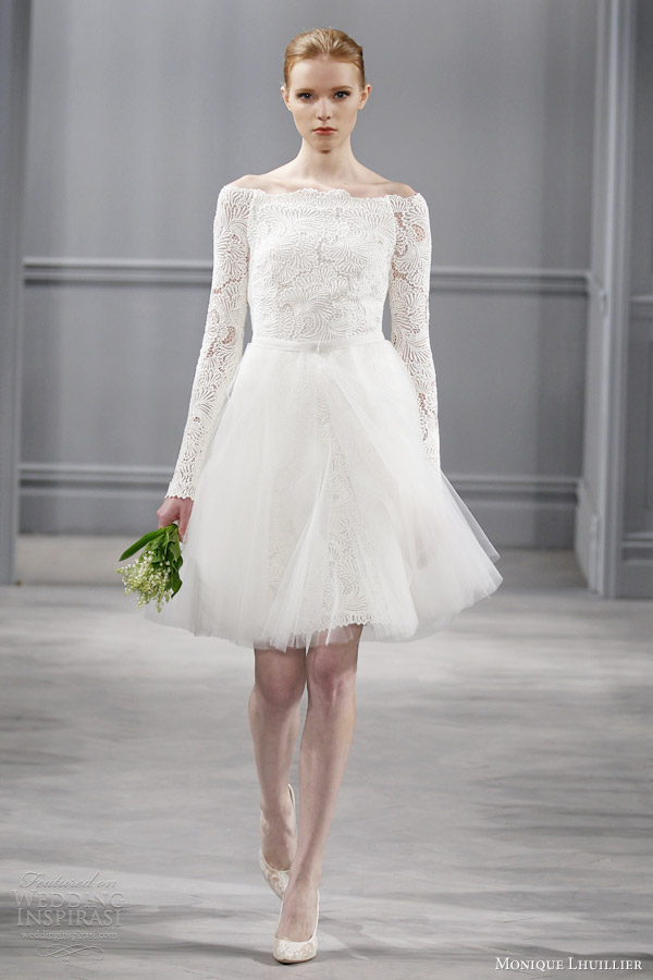 Monique lhuillier spring 2014 wedding dresses wedding for Bridal dress for civil wedding