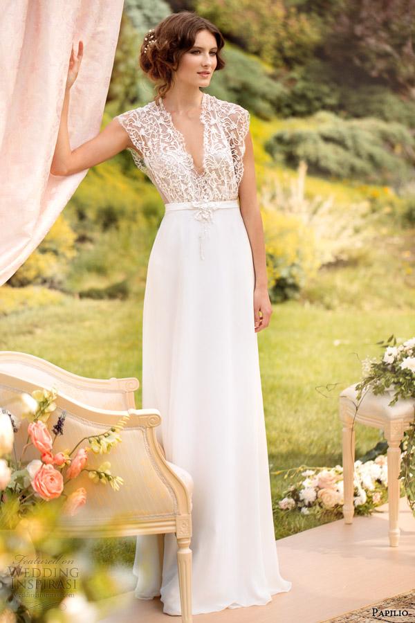 papilio wedding dresses 2014 eleonora gown v neck