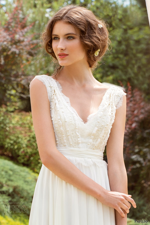 papilio wedding dresses 2014 ornella sleeveless gown bodice