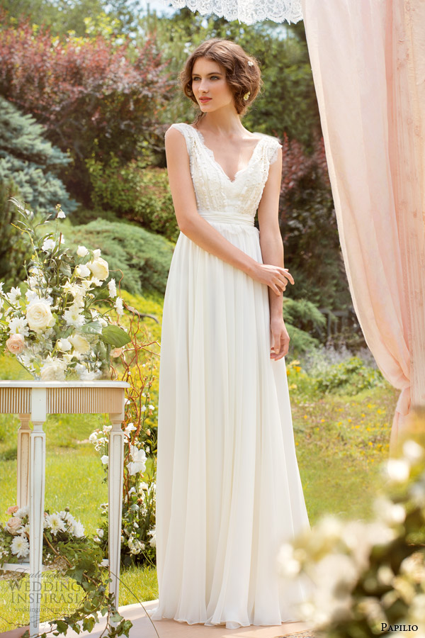 papilio wedding dresses 2014 ornella sleeveless gown