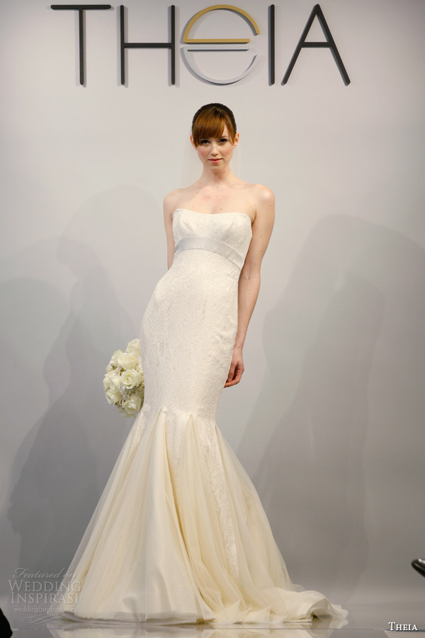 theia wedding coutute 2014 style 890074 strapless gown godet skirt