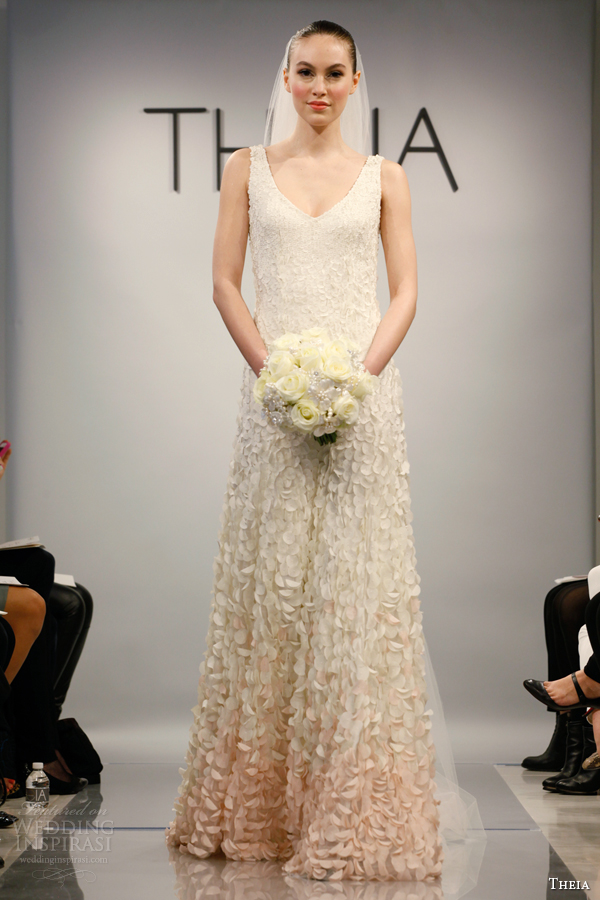 theia wedding dresses spring 2014 style 890061 sleeveless ombre petals