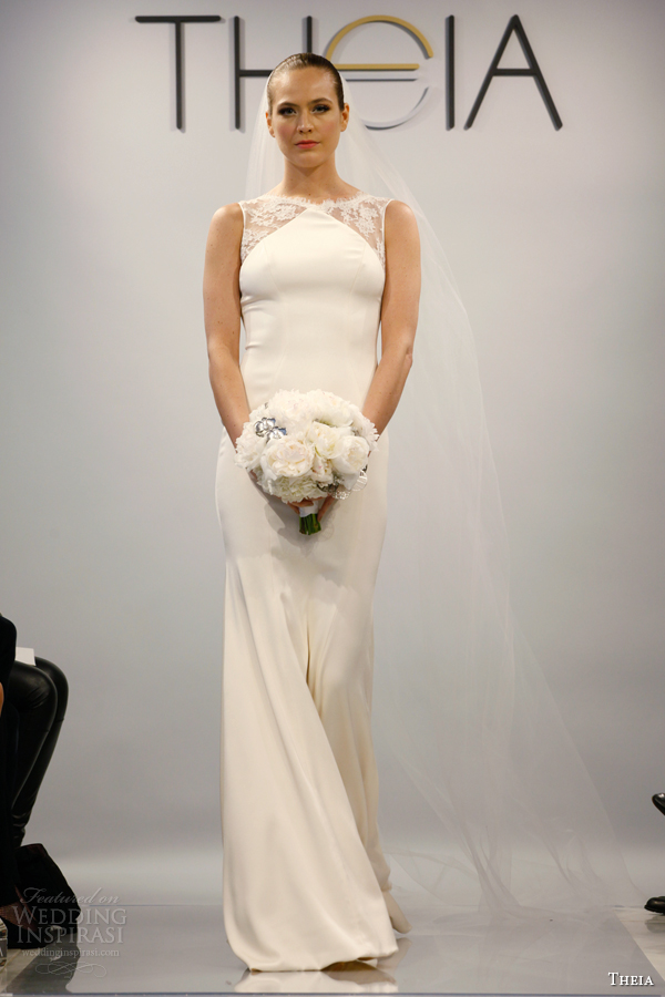 theia wedding dresses spring 2014 style 890068 sleeveless lace panel