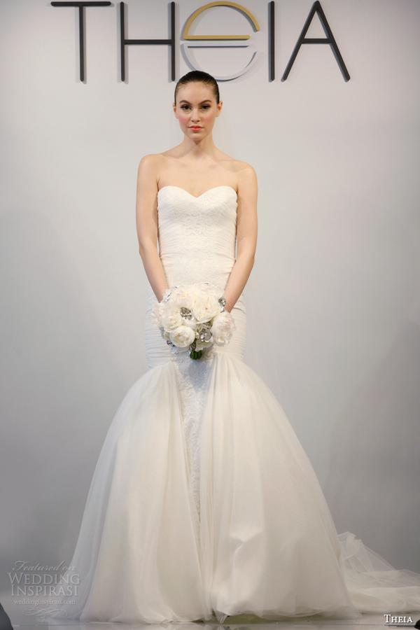 theia wedding dresses spring 2014 style 890069 strapless