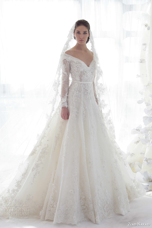 ziad nakad 2013 wedding dress long sleeves