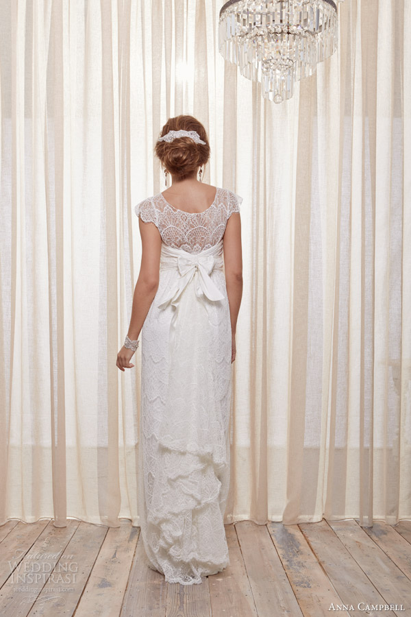 anna campbell 2013 2014 isobelle cap sleeve wedding dress back