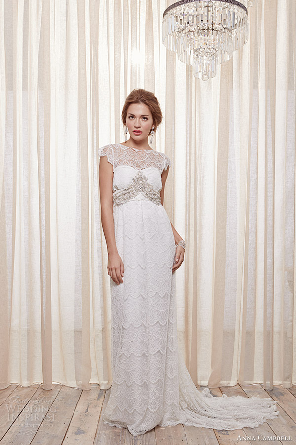 anna campbell 2013 2014 isobelle cap sleeve wedding dress