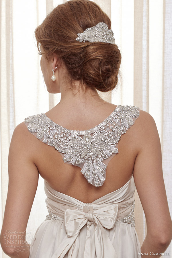 anna campbell 2014 wedding dresses amity latte gown back close up