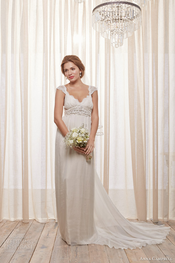 anna campbell bridal 2014 emily latte wedding dress straps