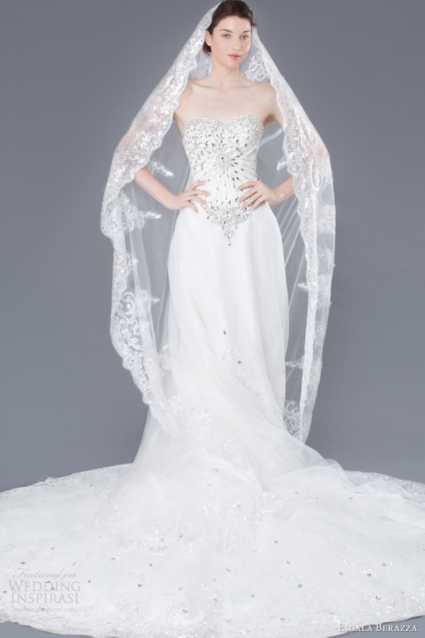 Wedding Dresses With Purple Accents 50 Beautiful escala berazza crystal made