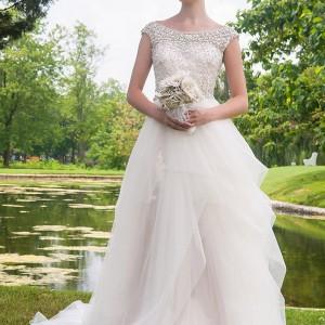 eugenia couture bridal 2014 marcella bateau neck wedding dress