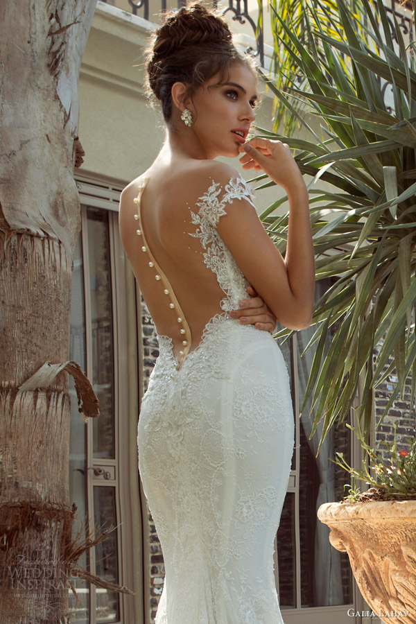 383294501cdc galia lahav 2014 empress 2 isabella wedding dress back view close up