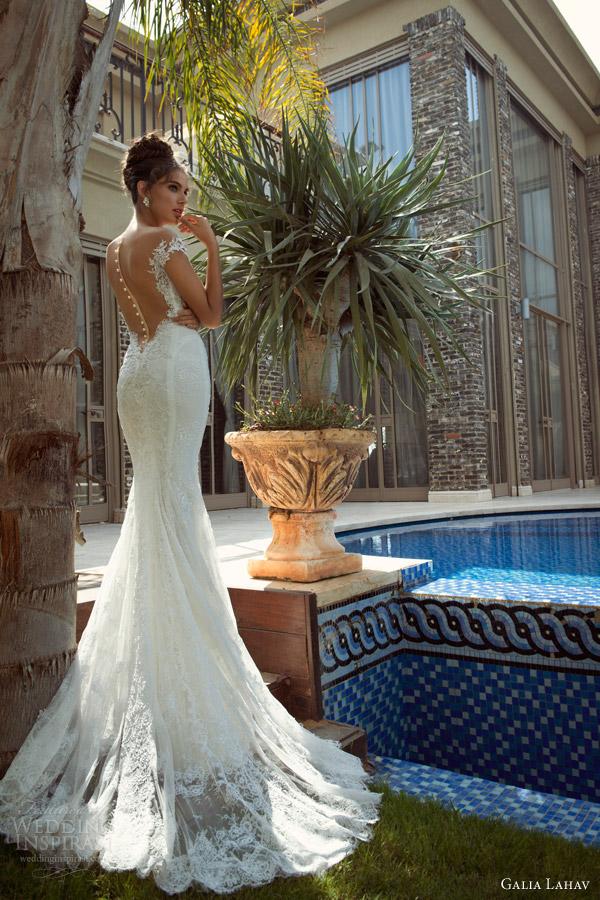 galia lahav 2014 empress 2 isabella wedding dress back view lace train