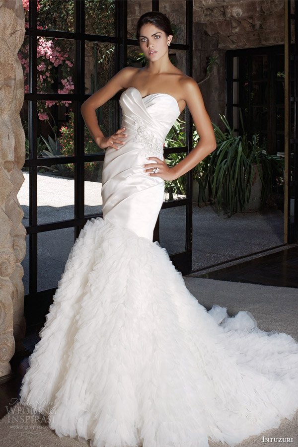 intuzuri 2014 bridal bahula strapless wedding dress