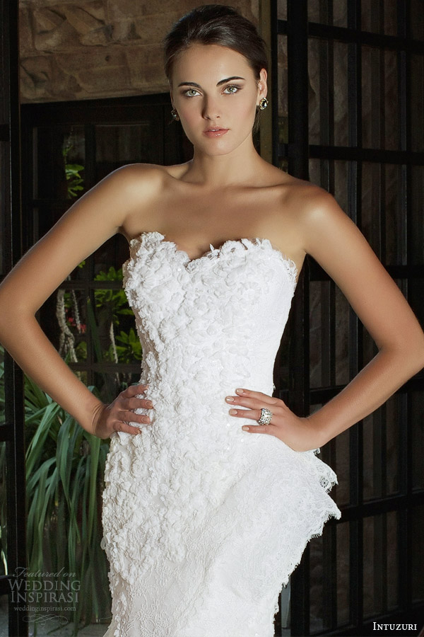 intuzuri bridal 2014 bliss strapless wedding dress sweetheart bodice