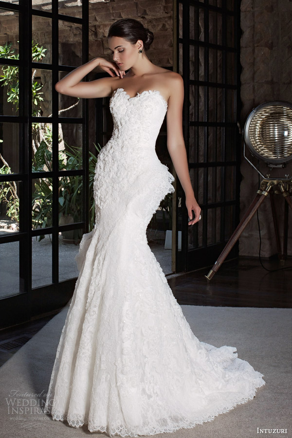 intuzuri bridal 2014 bliss strapless wedding dress