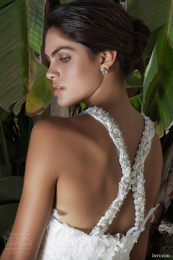 intuzuri bridal 2014 collection blair wedding dress straps back
