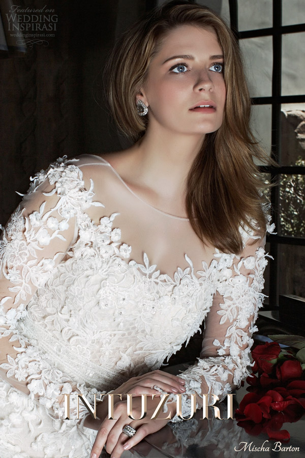 intuzuri mischa barton 2014 bridal campaign bijou wedding dress