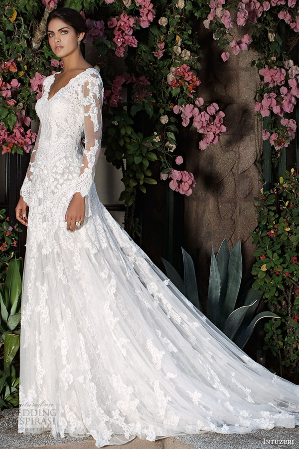 intuzuri wedding dresses 2014 bridal berkheya long sleeve gown