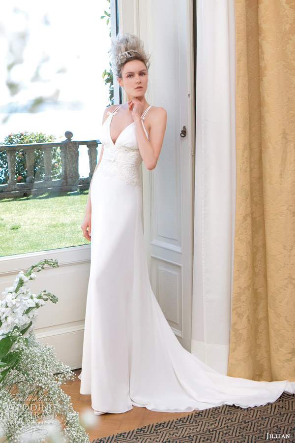 slip style wedding dresses style 95807 slip gown with