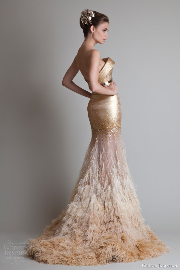 Strapless Gold Ombre Dress