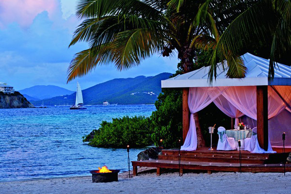 Ritz Carlton St Thomas Beachfront Wedding Venue Luxurious Beach Location The Beachside
