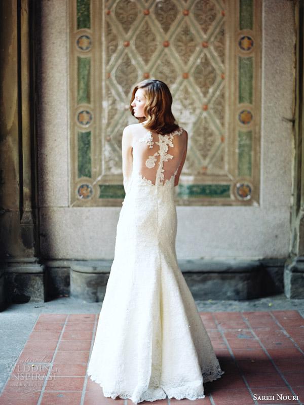 sareh nouri 2014 bridal skylar illusion cap sleeve wedding dress back detail