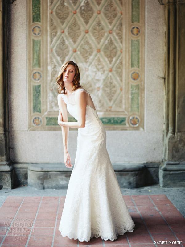 sareh nouri 2014 bridal skylar illusion cap sleeve wedding dress