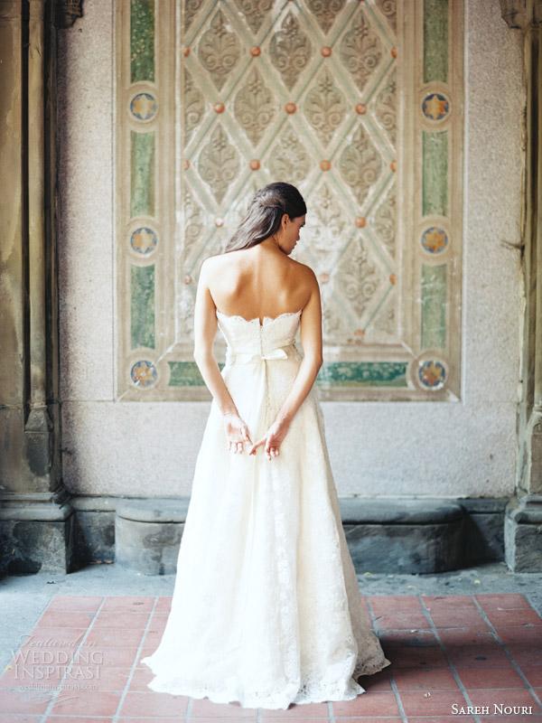 sareh nouri bridal 2014 amelie strapless wedding dress back view
