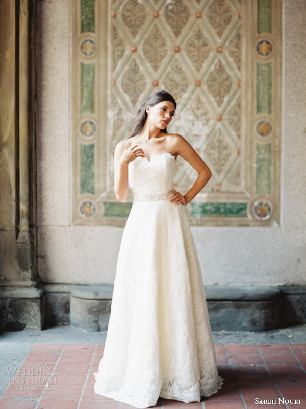 sareh nouri bridal 2014 amelie strapless wedding dress